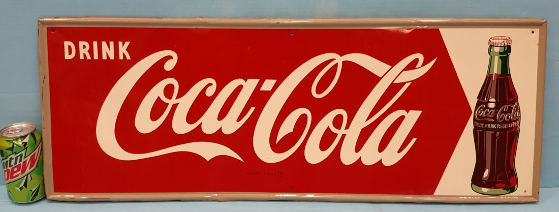 Drink Coca Cola Tin Arrow Sign