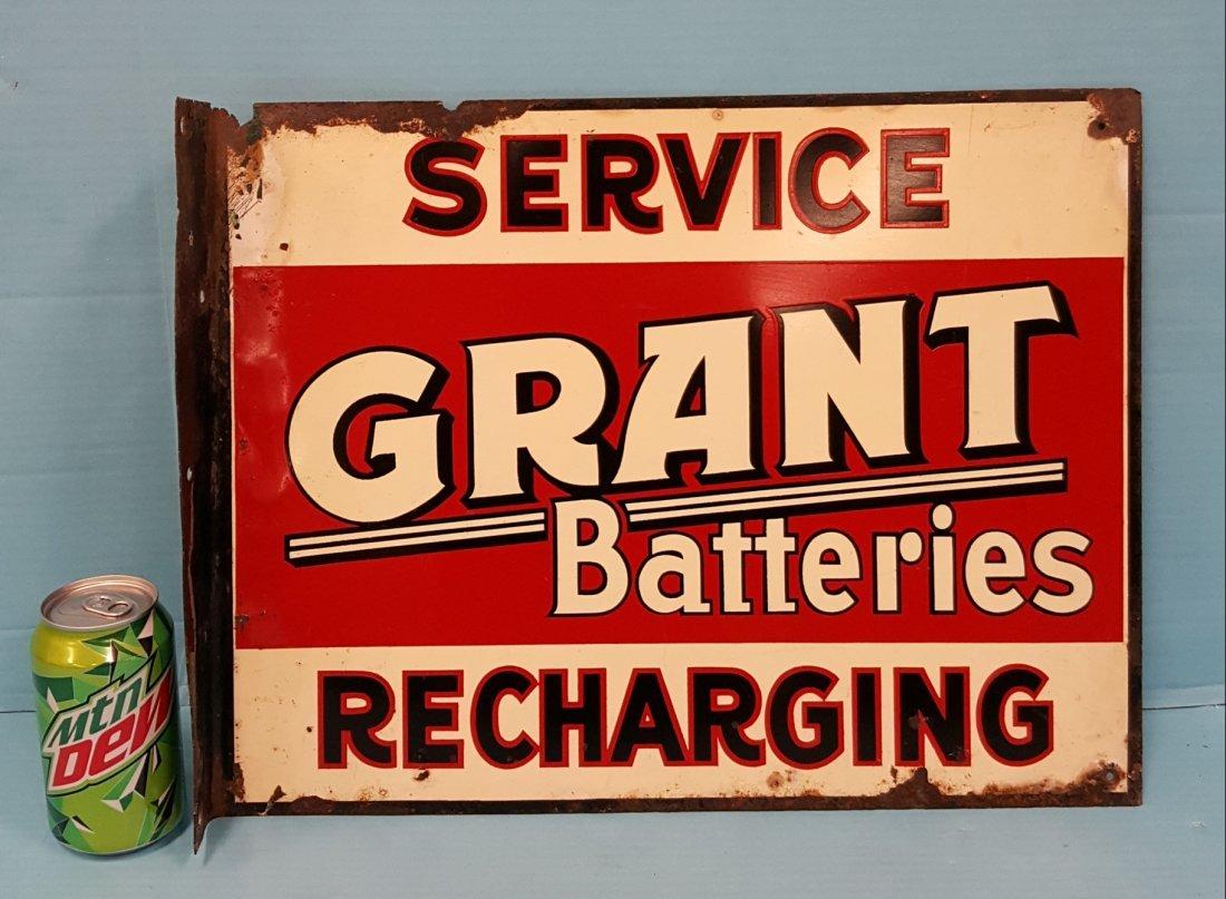 Grant Batteries Service Recharging Flange Sign