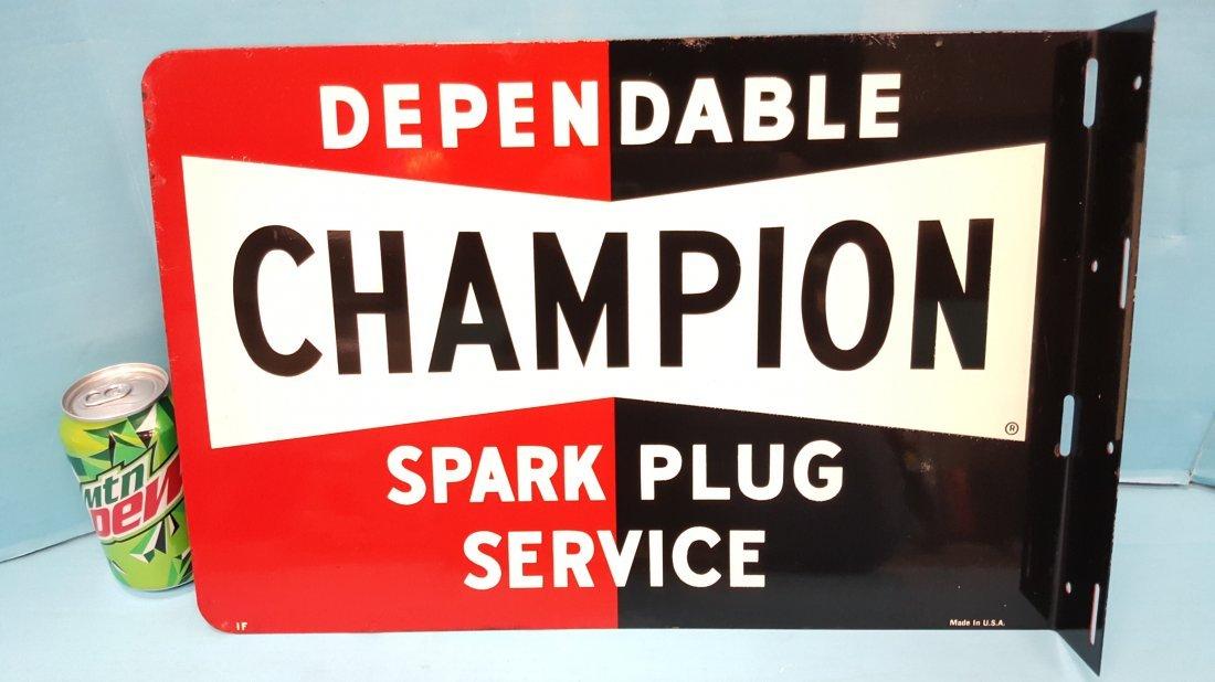 NOS Champion Flange Sign