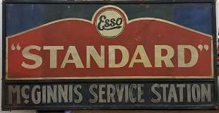 Esso Standard McGinnis Service Station Sign