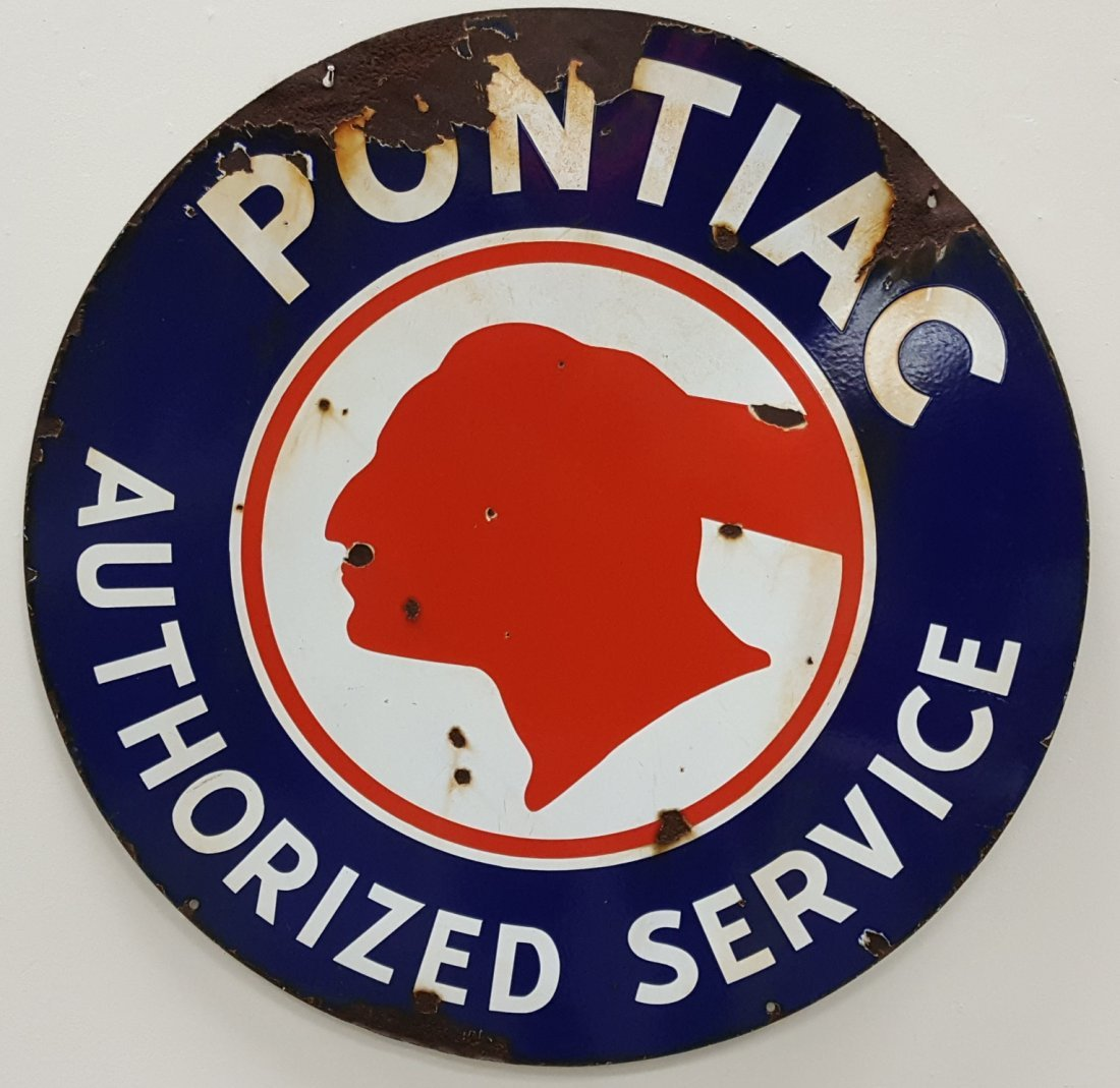 Porcelain Pontiac Authorized Service Sign
