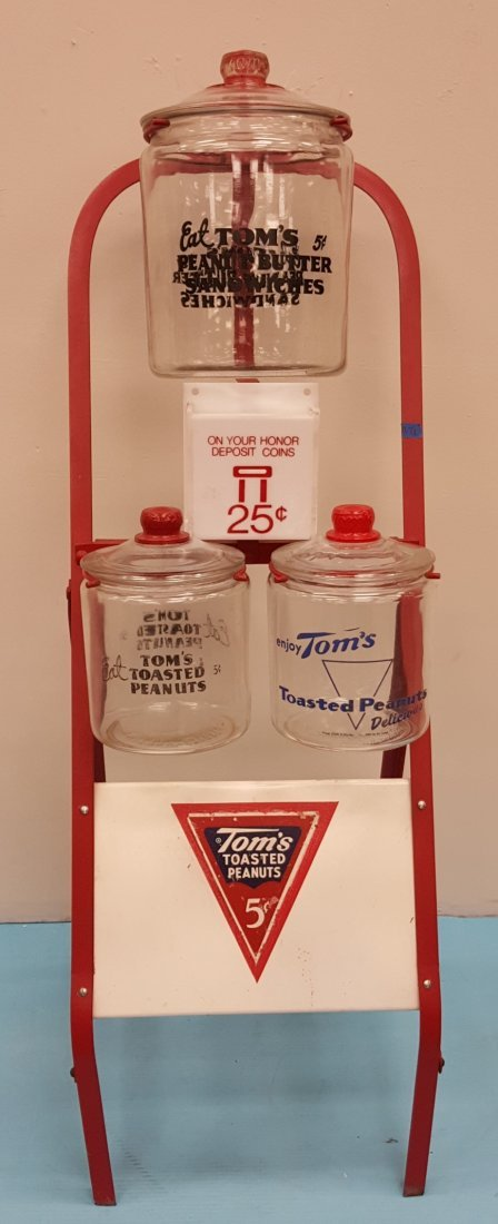 RARE Toms Rack with Jars