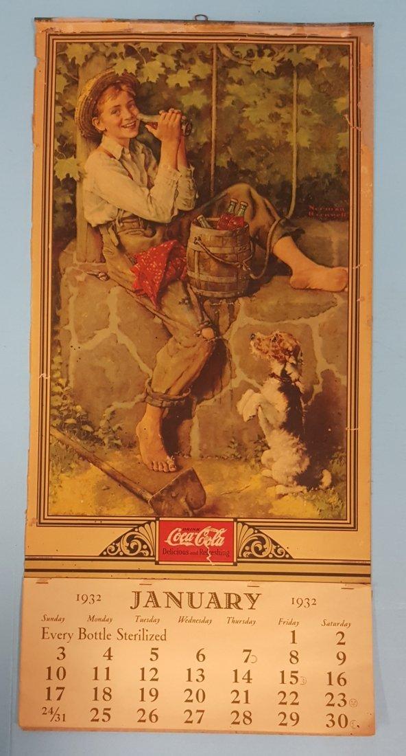 1932 Coca Cola Calendar Complete
