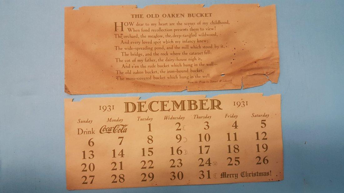 1932 Coca Cola Calendar Complete - 2
