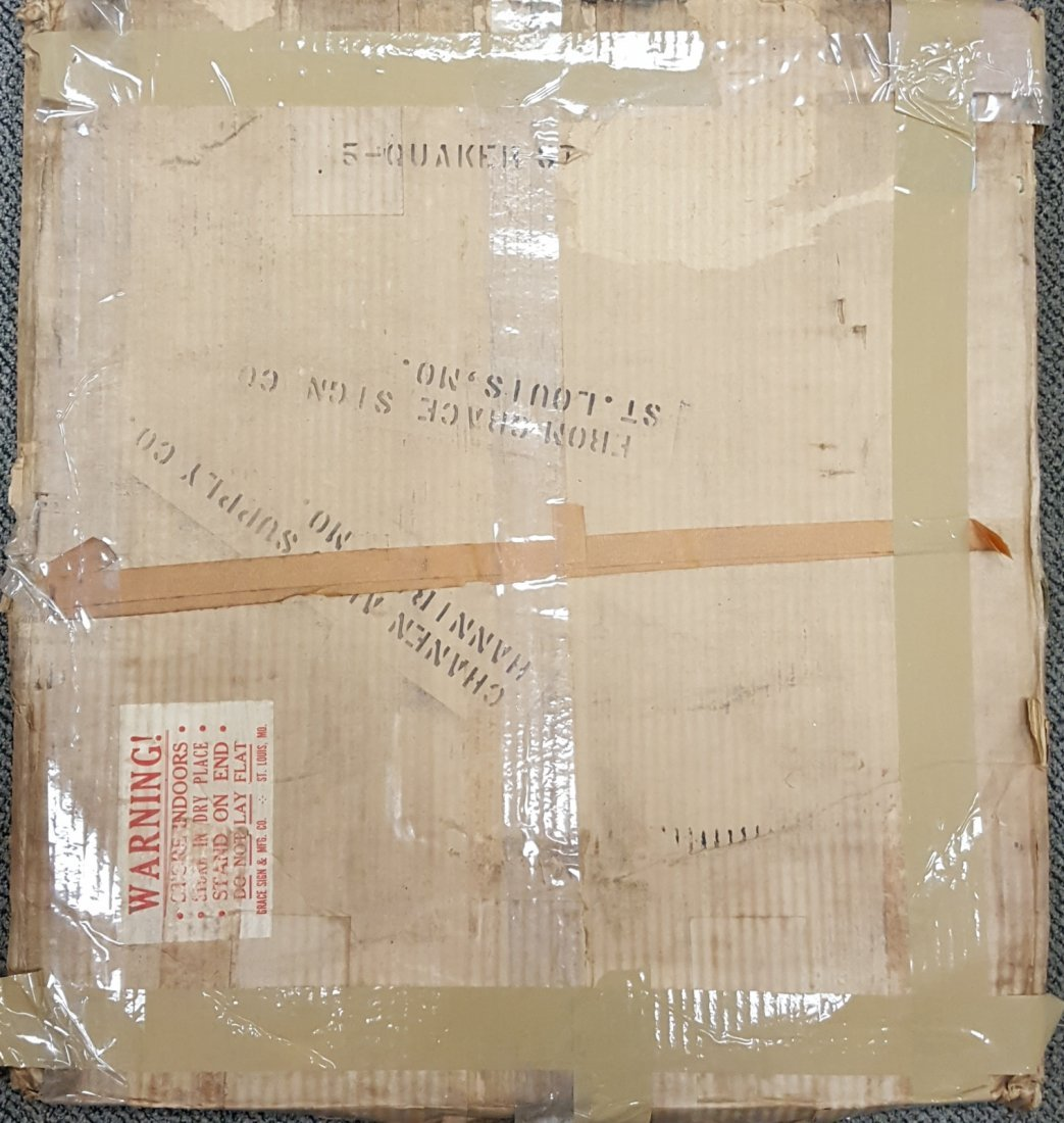 1951 NOS Tombstone Quaker State Sign - 4