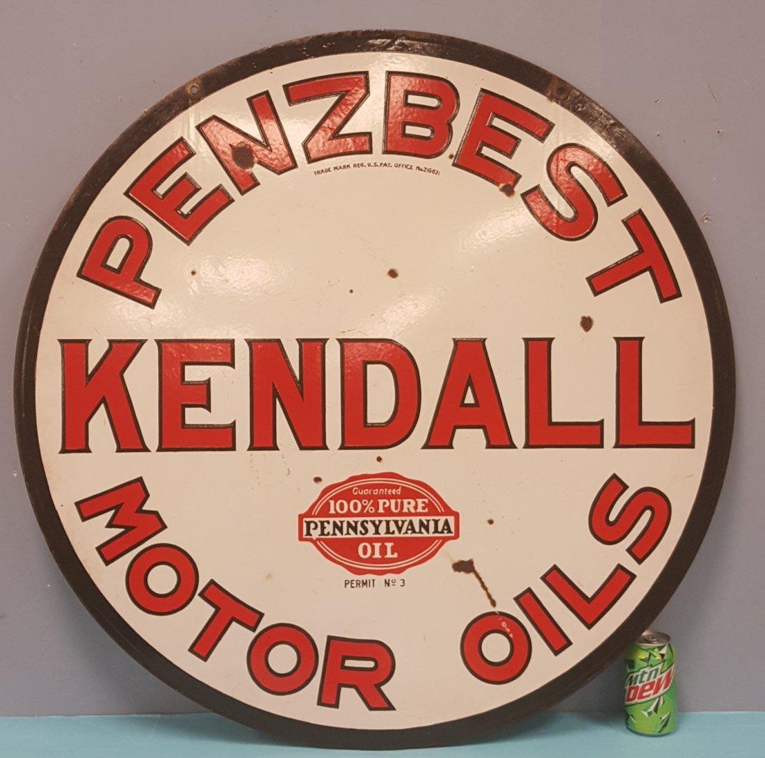 Porcelain Kendall Penzbest Motor Oils Sign