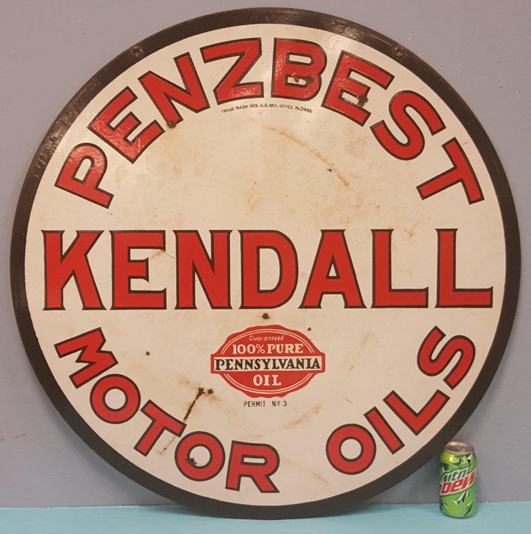 Porcelain Kendall Penzbest Motor Oils Sign - 2