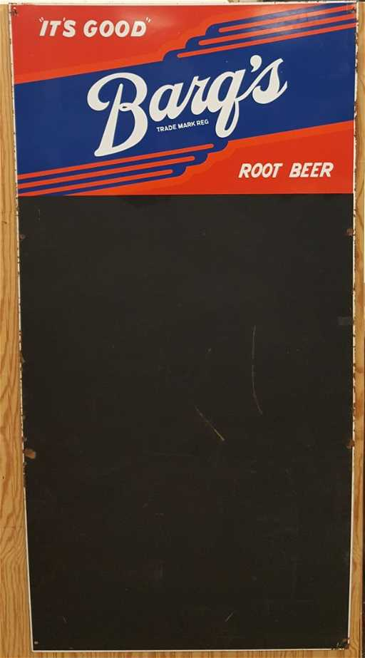 rare 5ft double sided barq s root beer menu board sign