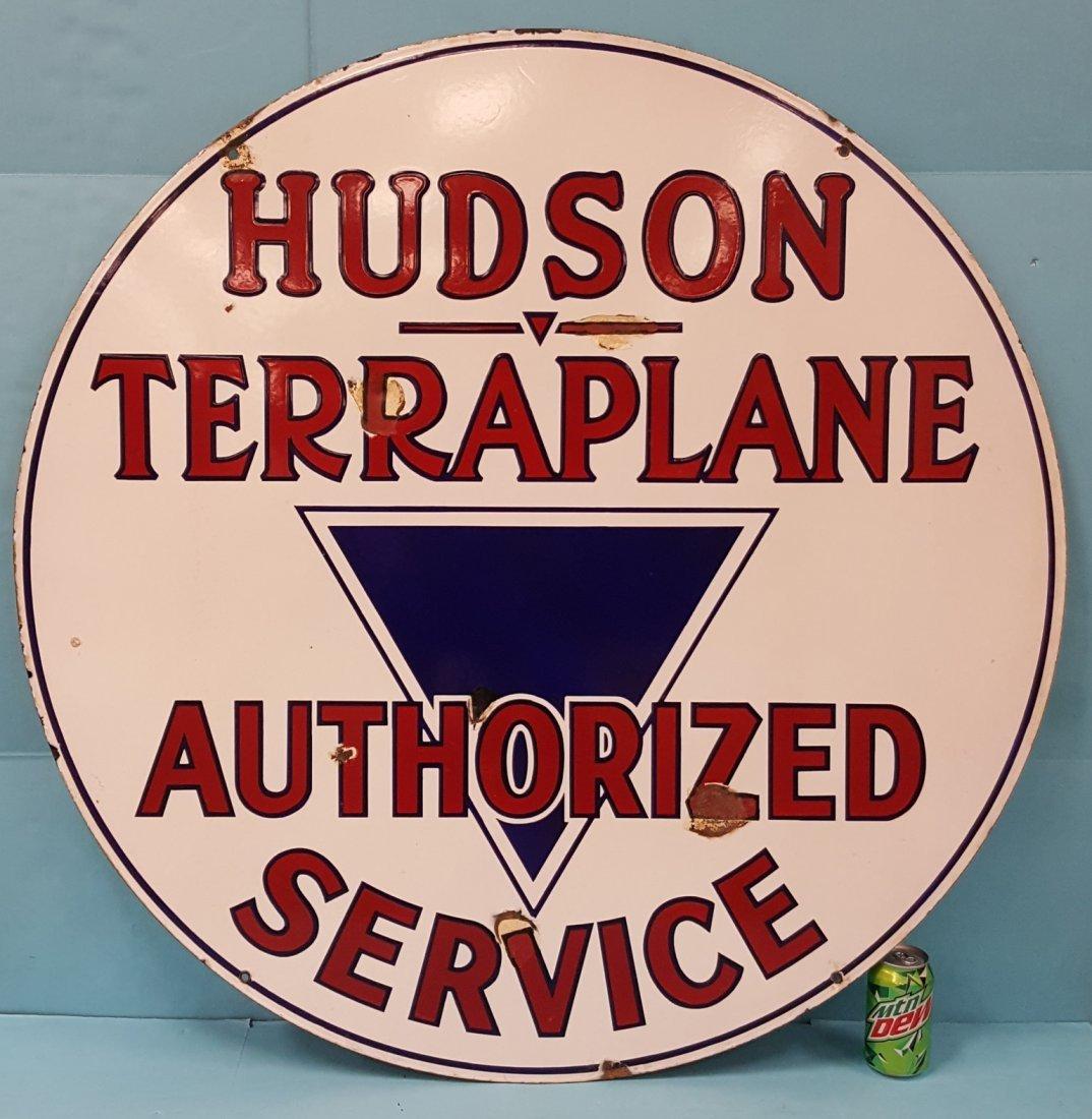 Porcelain Hudson Terraplane Authorized Service Sign
