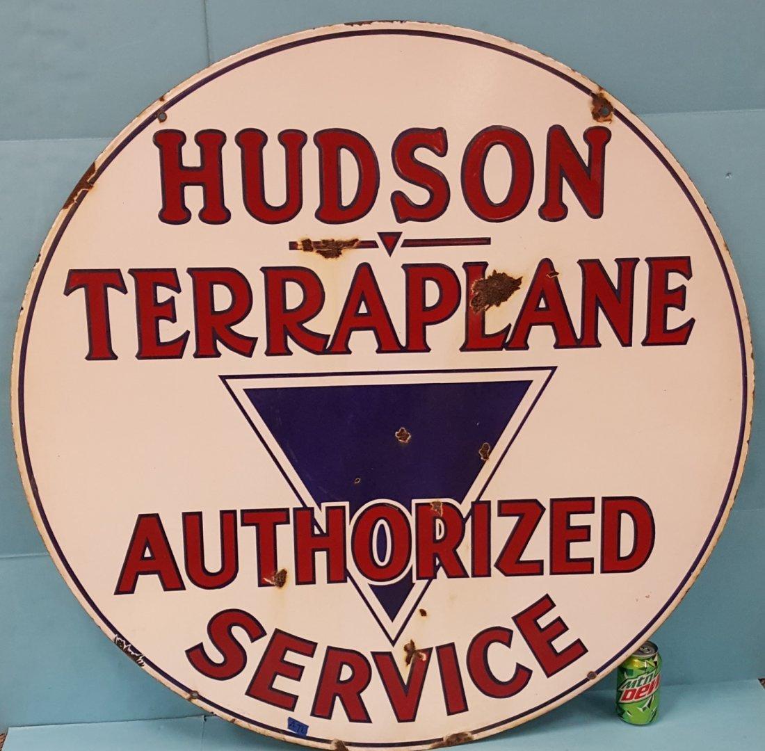 Porcelain Hudson Terraplane Authorized Service Sign - 2