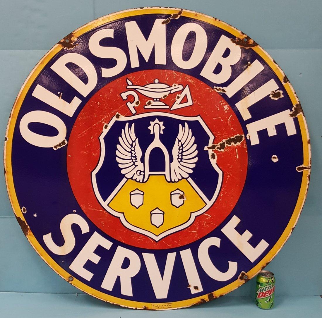 Porcelain Oldsmobile Service Sign
