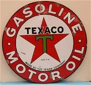 "1932 Porcelain Texaco Sign 42"""