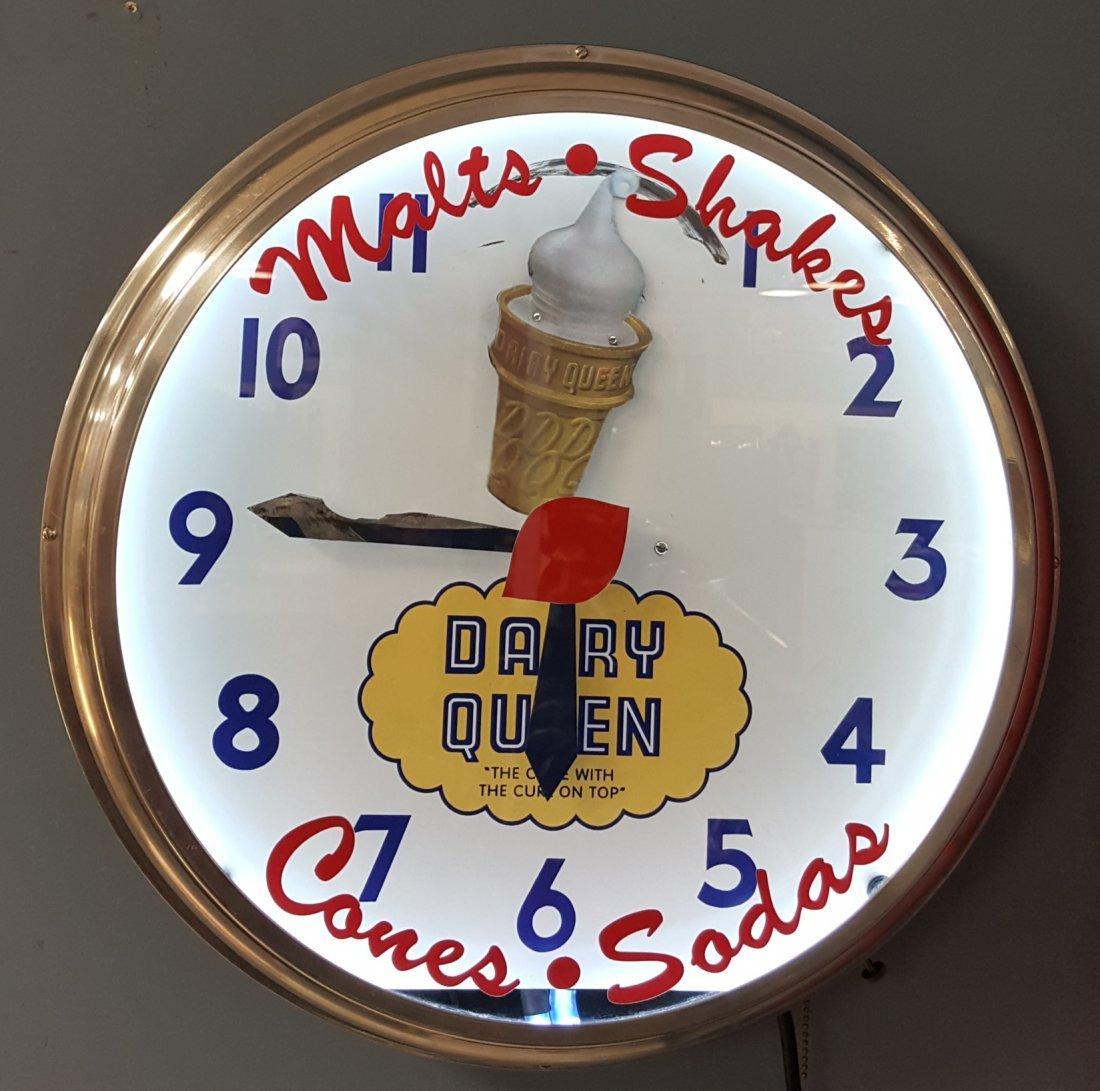 Vintage Dairy Queen Neon Clock