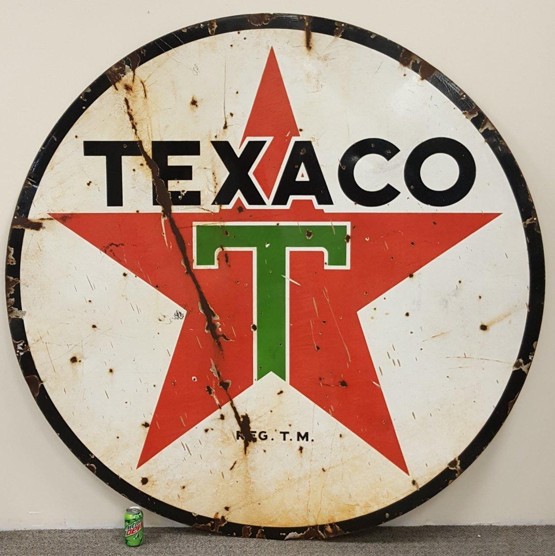 Porcelain 6ft Texaco Sign