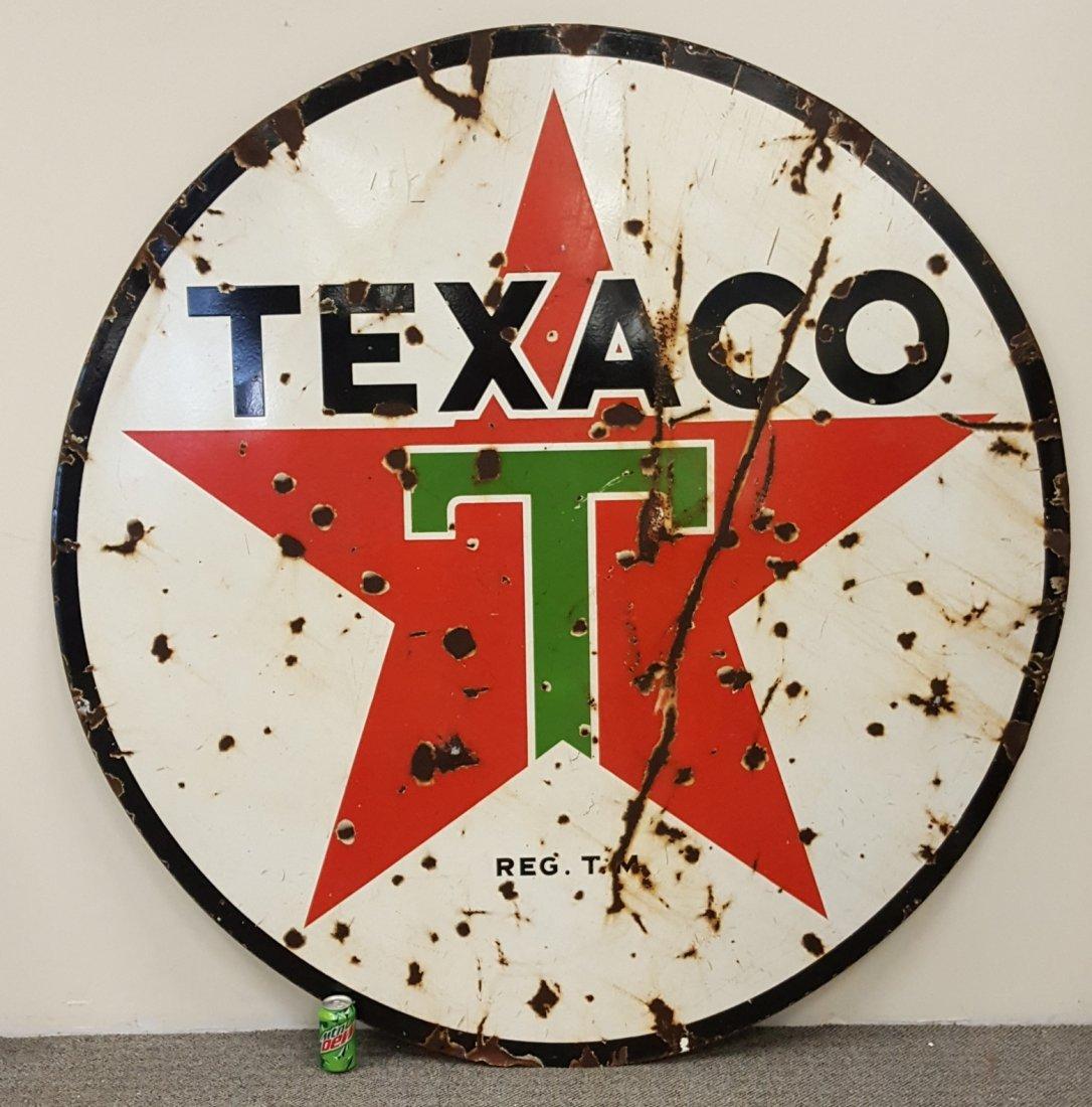Porcelain 6ft Texaco Sign - 2