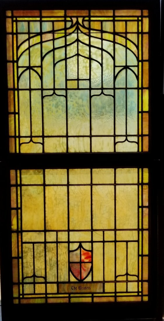 Large Antique Stained Glass Window