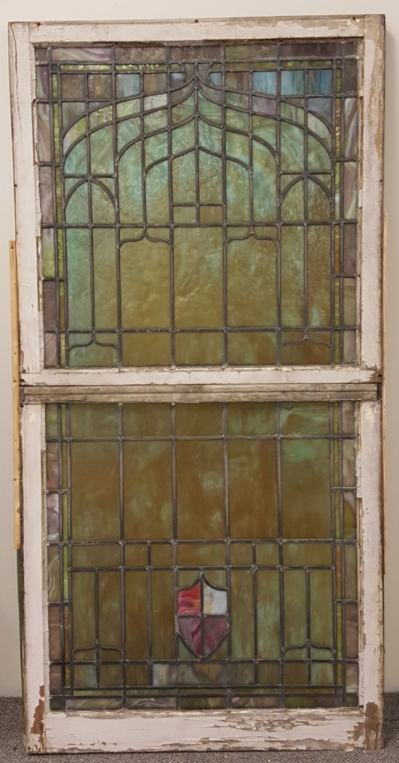 Large Antique Stained Glass Window - 2