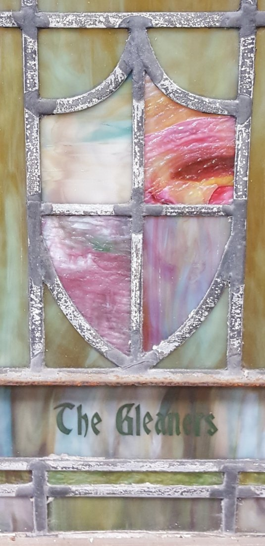 Large Antique Stained Glass Window - 3