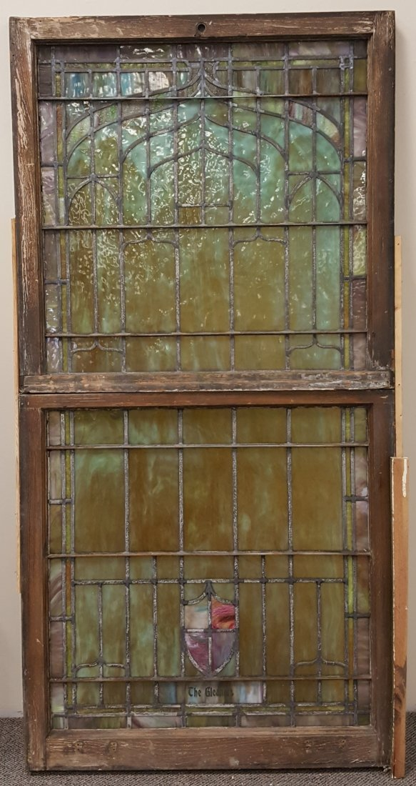 Large Antique Stained Glass Window - 4