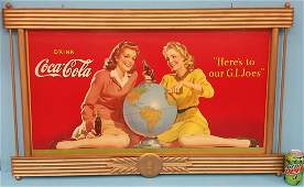 1944 Coca Cola Cardboard sign Here's To Our G. I. Joe's