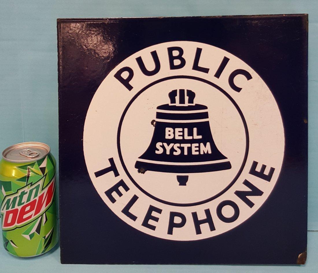 Porcelain Flange Bell System Public Telephone