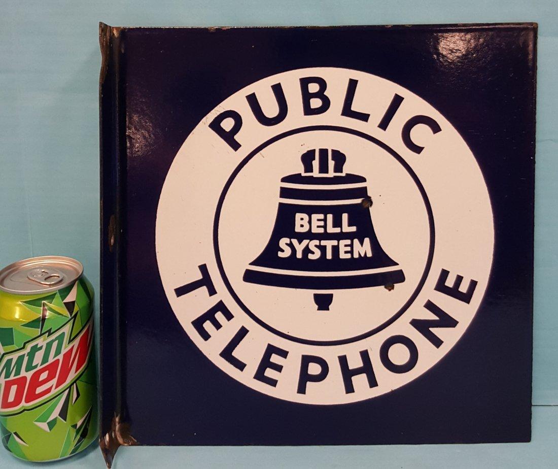 Porcelain Flange Bell System Public Telephone - 2
