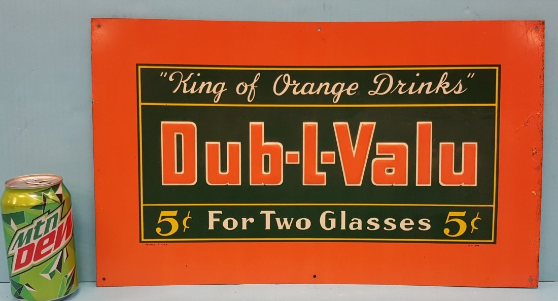 Dub-L-Value Embossed Tin Sign