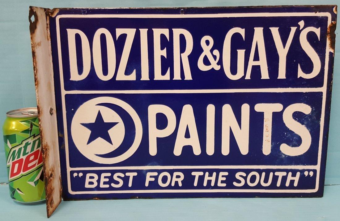 Dozier & Gay's Paints Porcelain Flange Sign - 2