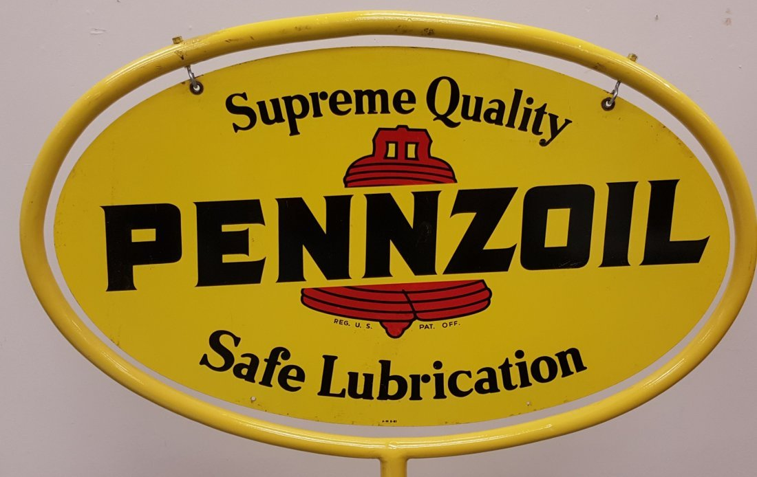 Pennzoil Lollipop Sign - 3