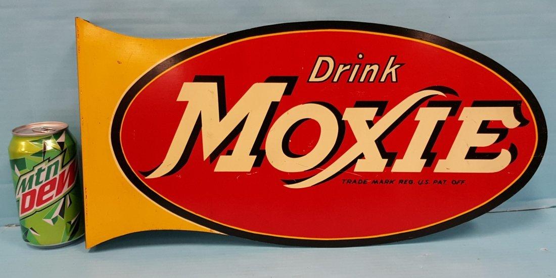 Drink Moxie Flange Sign