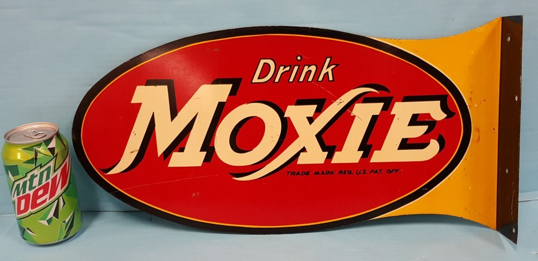 Drink Moxie Flange Sign - 2