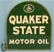 1951 NOS Quaker State Motor Oil Metal Sign