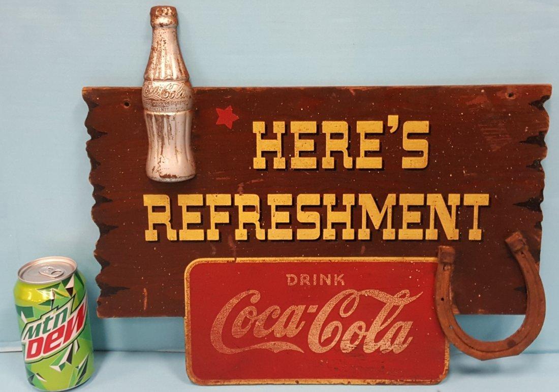 Kay Displays Coca Cola Here's Refreshment Sign