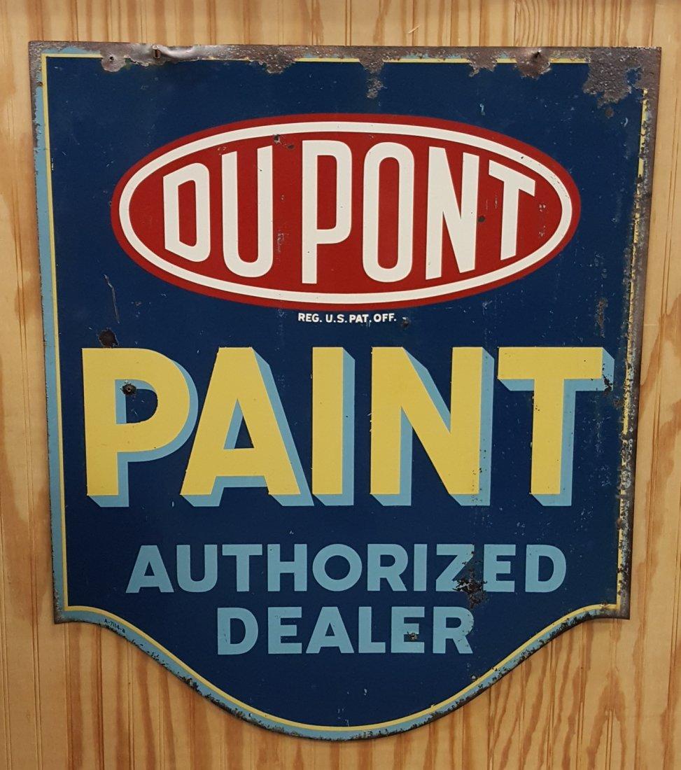 Du Pont Paint Authorized Dealer Double Sided Sign