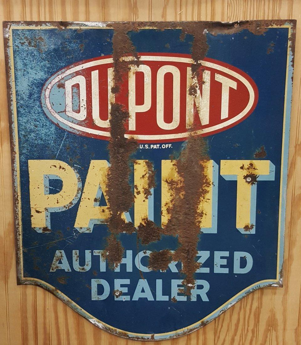 Du Pont Paint Authorized Dealer Double Sided Sign - 2