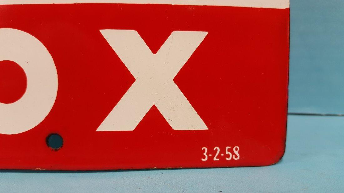 Porcelain Sky Chief Texaco Petrox Pump Plate - 2