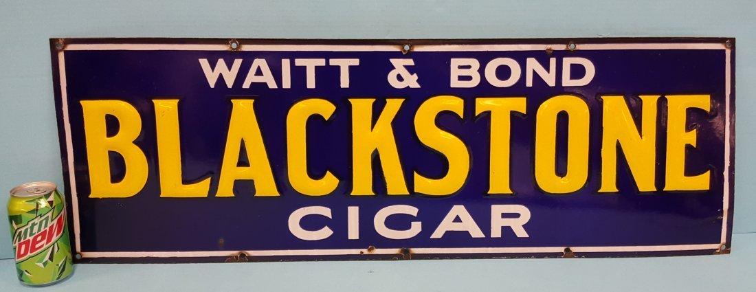 Porcelain Blackstone Cigar Sign