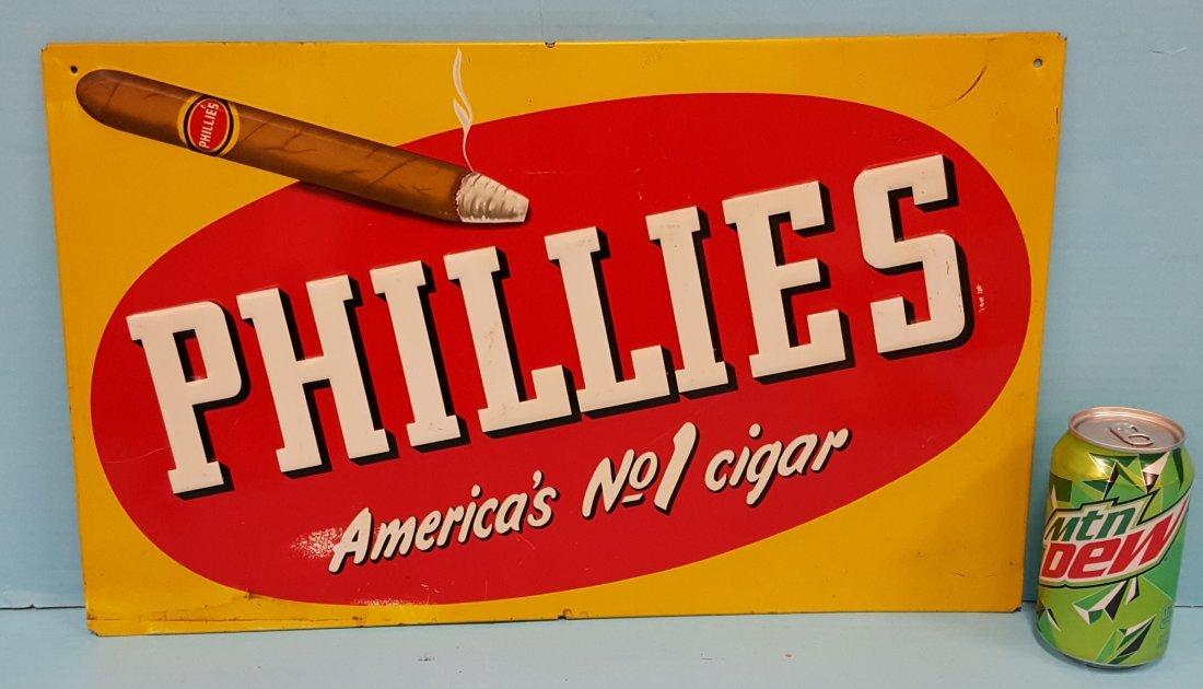 Phillies America's #1 Cigar Tin Sign