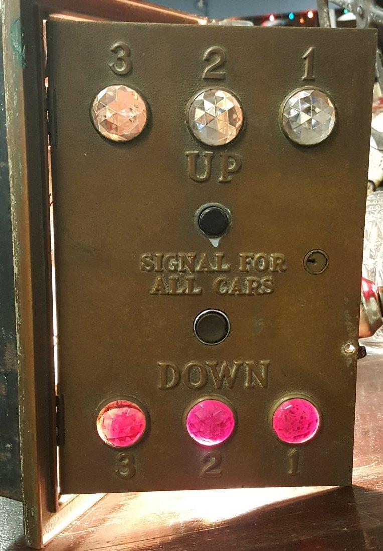 Brass Jeweled Elevator Control Switch