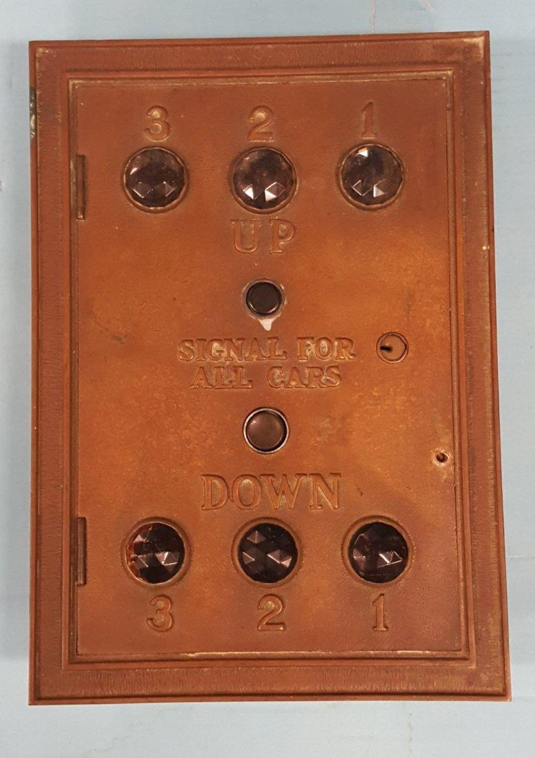 Brass Jeweled Elevator Control Switch - 2