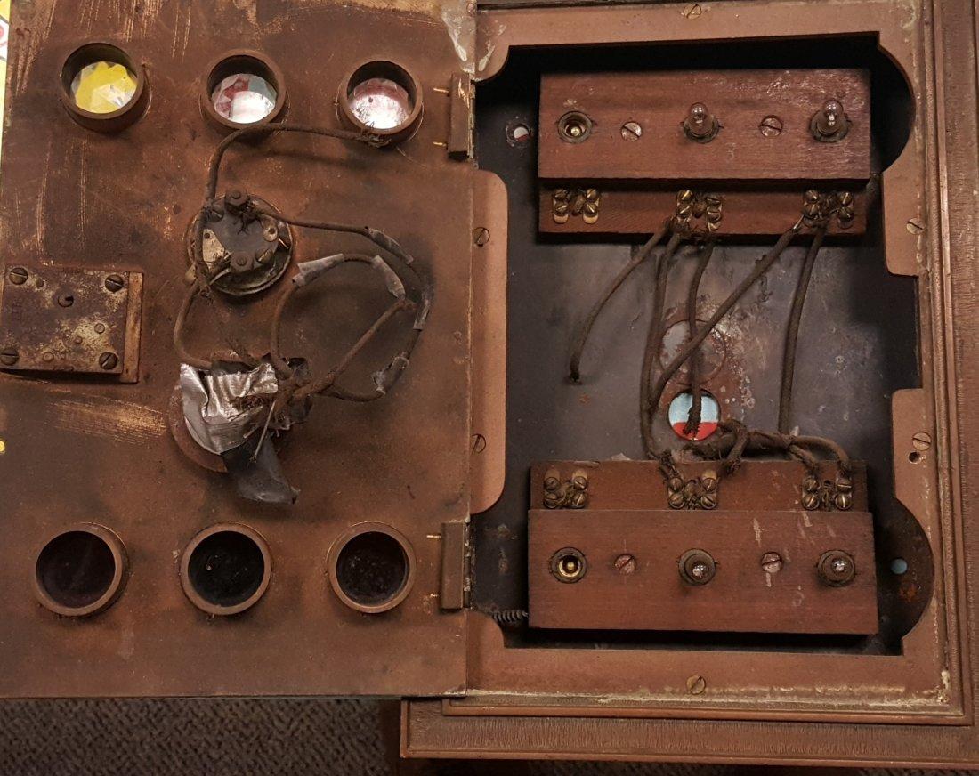 Brass Jeweled Elevator Control Switch - 3