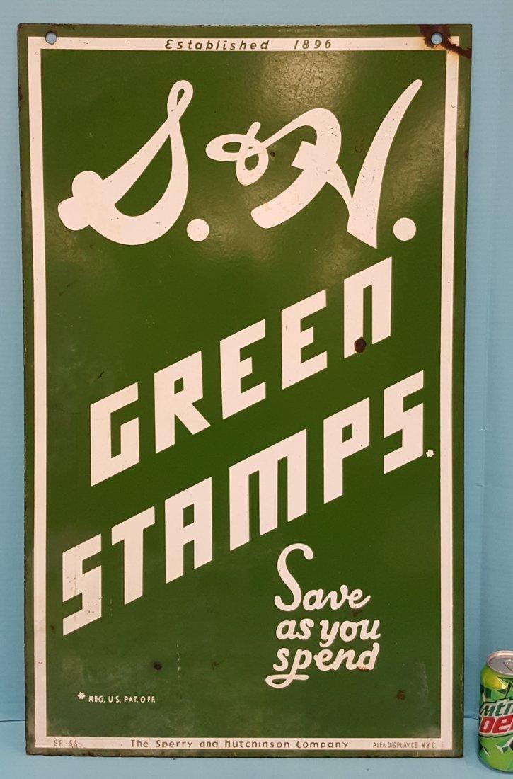 Porcelain S&H Green Stamps Sign
