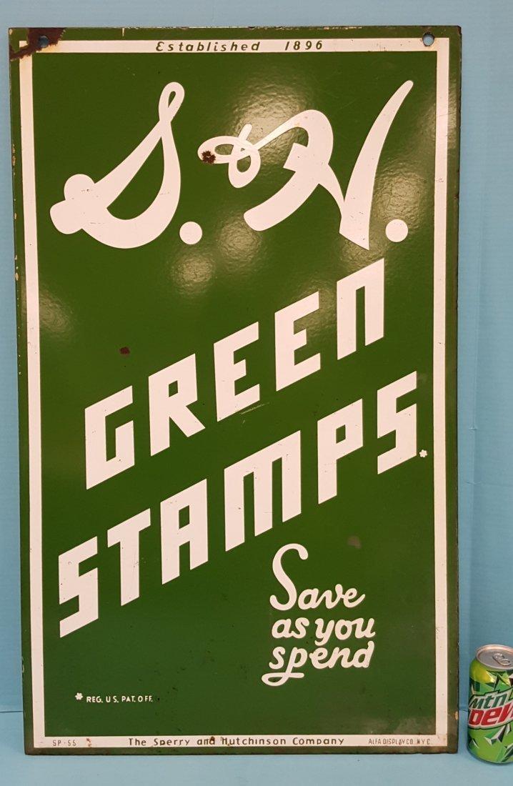 Porcelain S&H Green Stamps Sign - 2