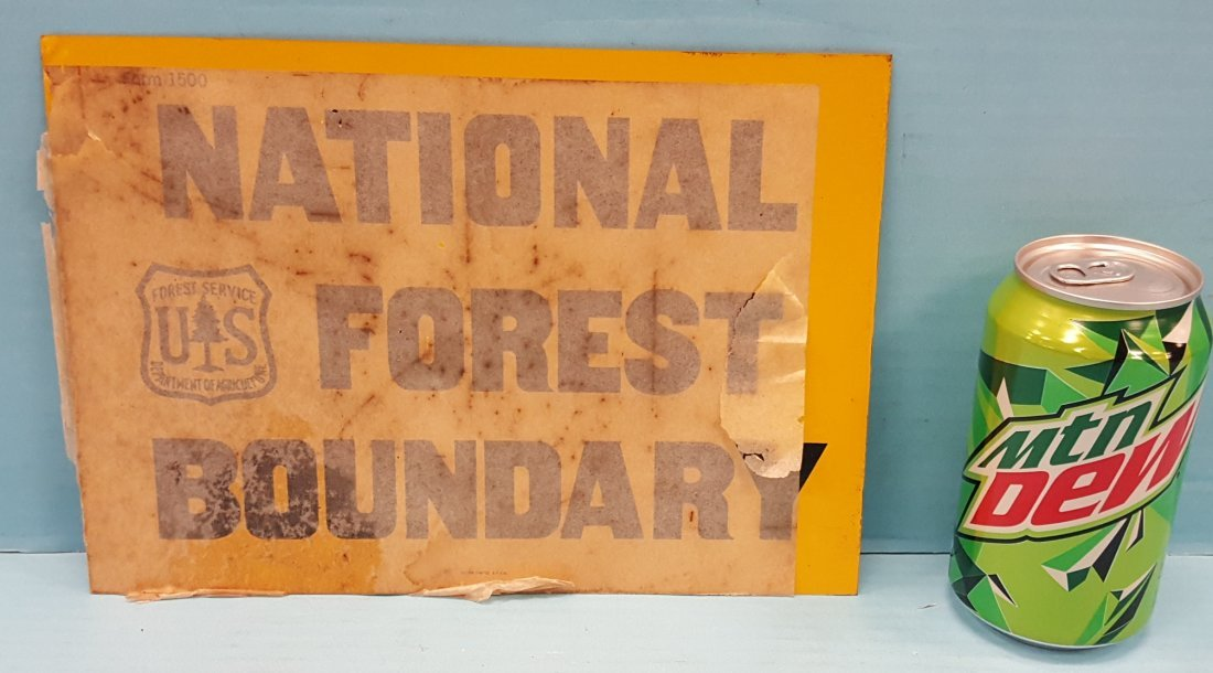 NOS National Forest Boundary Tin Sign