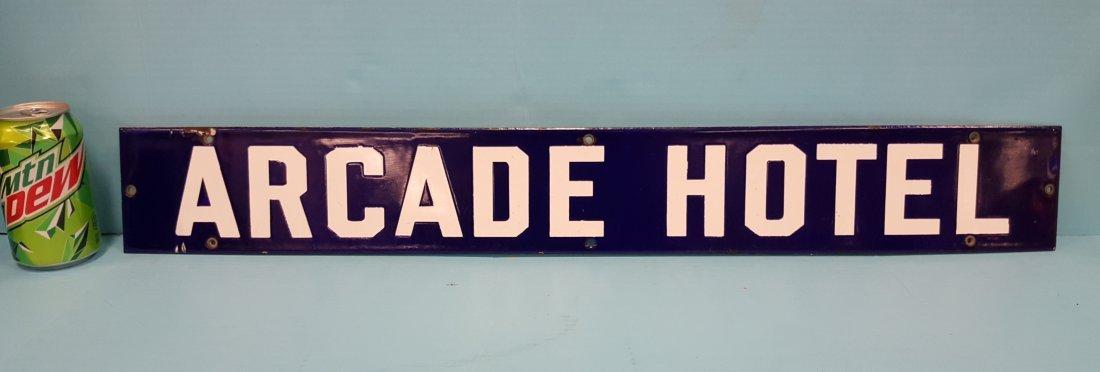 Arcade Hotel Porcelain Sign