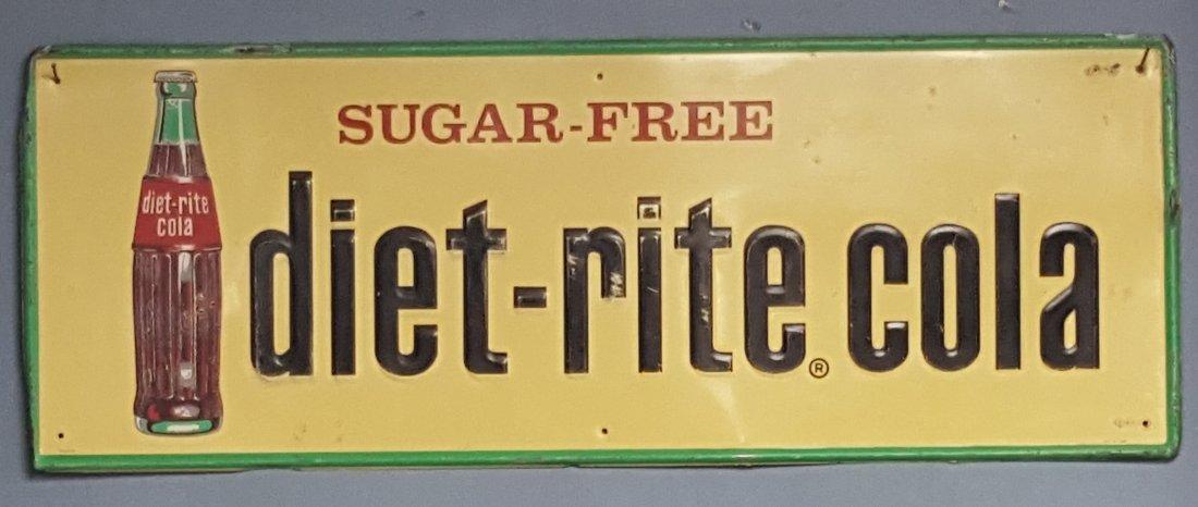 diet-rite cola Sugar Free Embossed Tin sign
