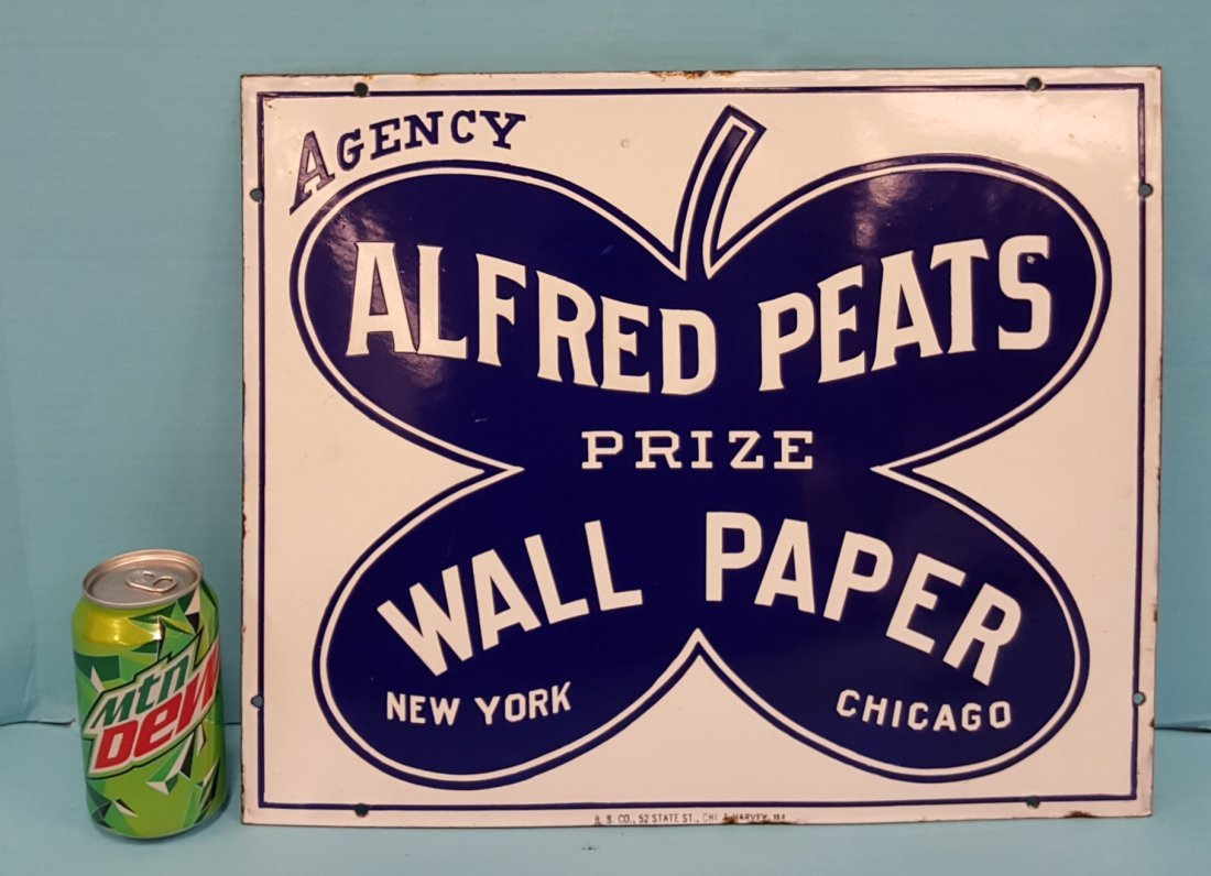 Porcelain Alfred Peats Prize Wallpaper Sign