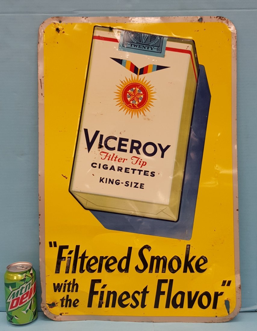 Viceroy Filtered Smoke Finest Flavor Tin Sign