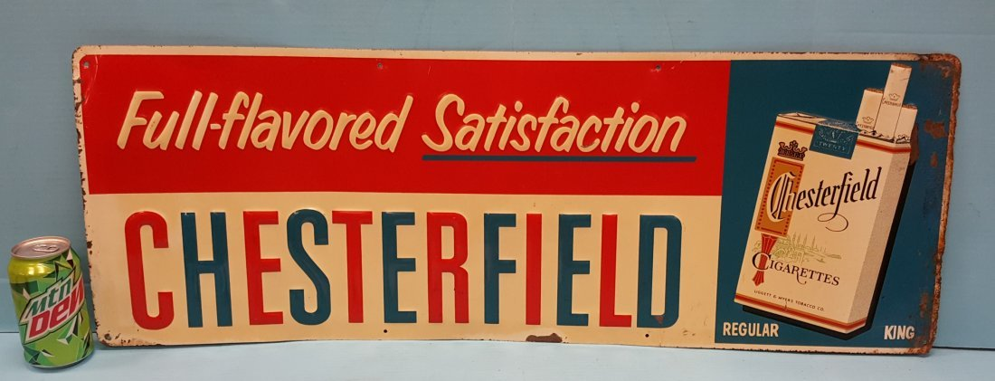 Chesterfield Full Flavored Satisfaction Tin Sign