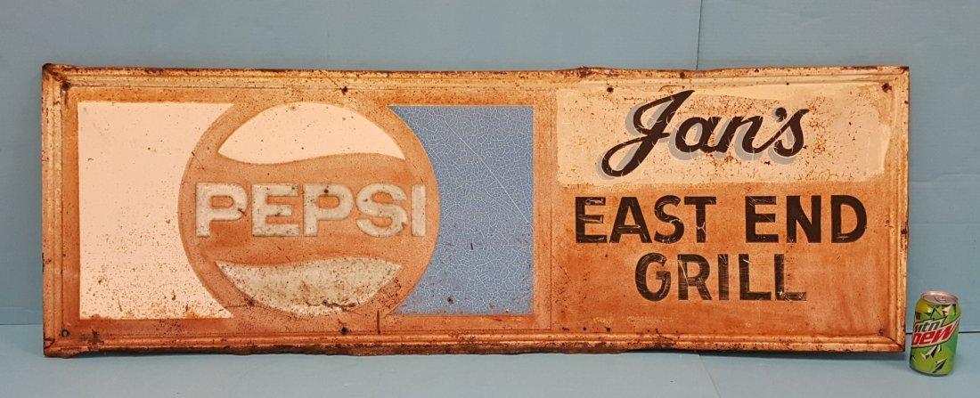 Jan's East End Grill Pepsi Metal Sign